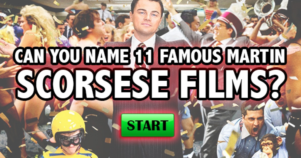 Can You Name 11 Famous Martin Scorsese Films?