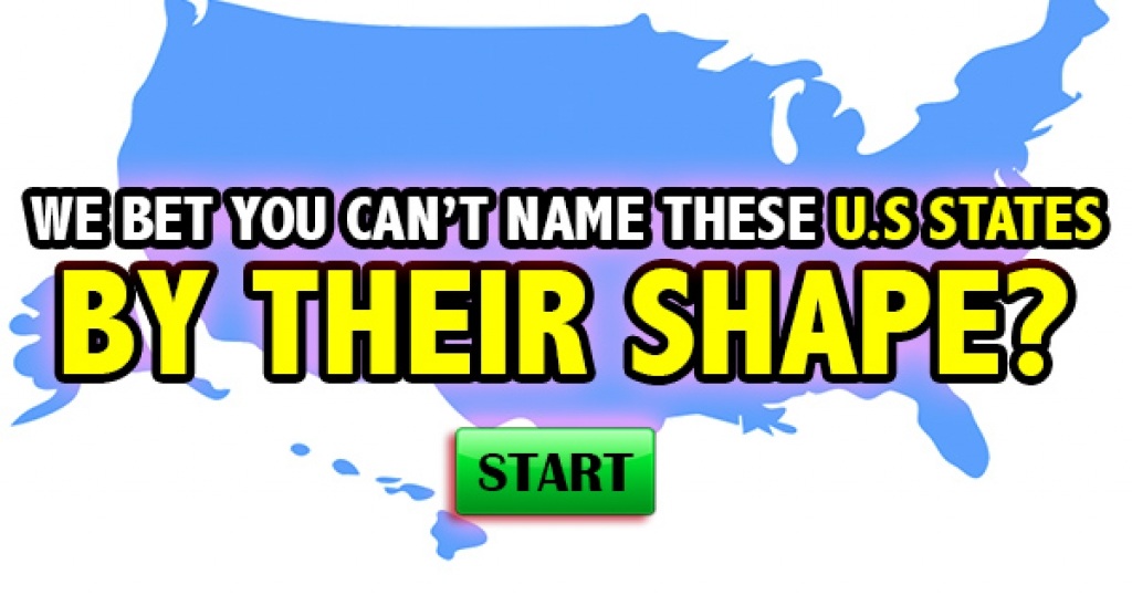 We Bet You Can't Identify These US States By Their Shapes!