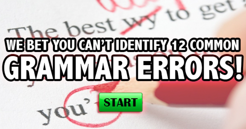 We Bet You Can't Identify 12 Common Grammar Errors!