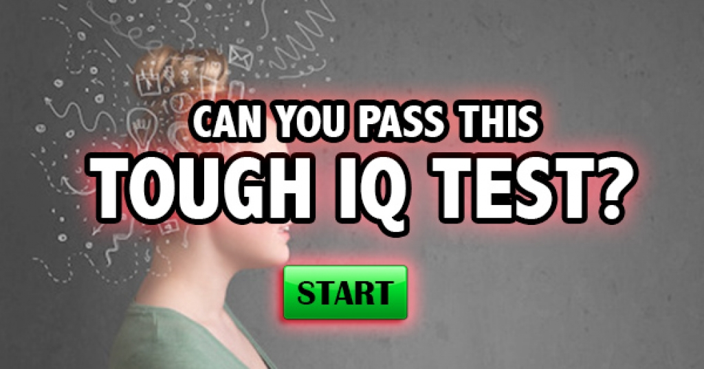 Can You Pass This Tough IQ Test?
