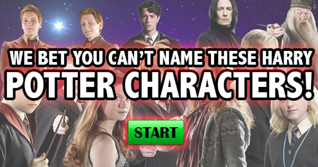 We Bet You Can't Name All of These Harry Potter Characters!
