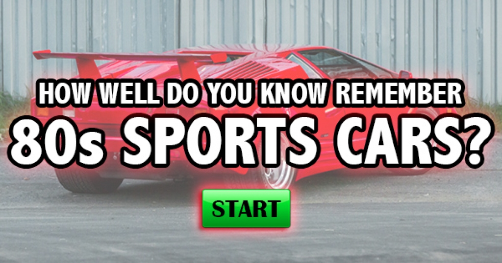 How Well Do You Remember 80s Sports Cars?