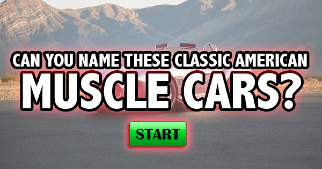 Can You Name These Classic American Muscle Cars?